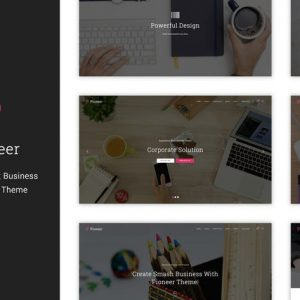 pioneer multi concept corporate wordpress theme