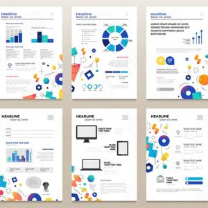 Presentation booklets - a4 pages templates set