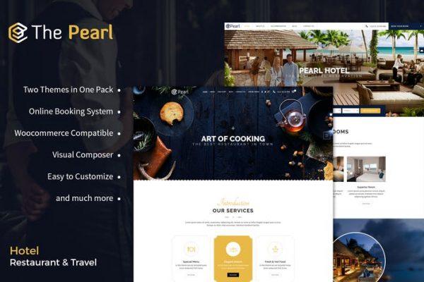 Restaurant and Hotel WordPress Theme - Pearl