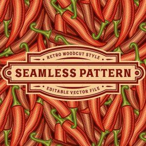 Seamless Chili Pepper Pattern