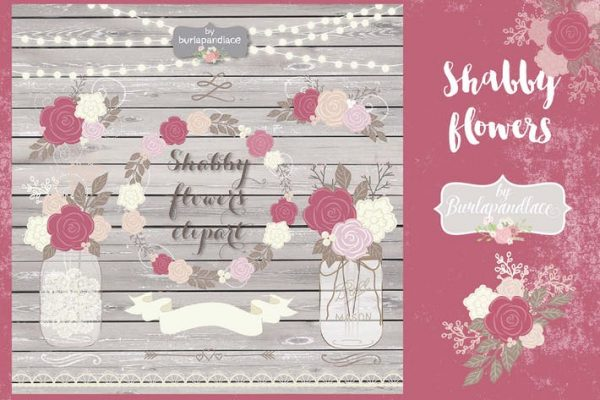 Shabby Chic dusty rose design
