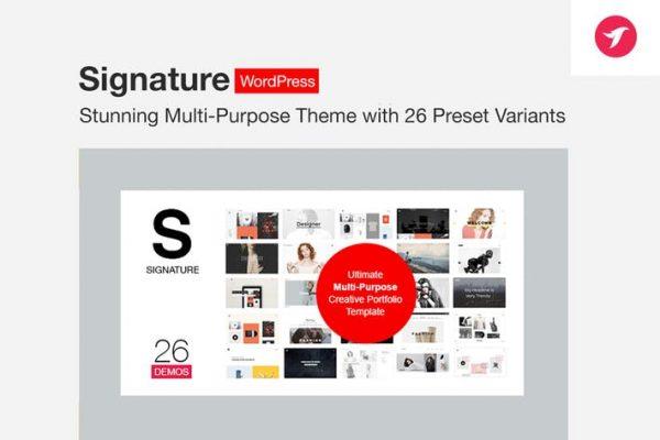 signature ultimate multi purpose wordpress theme