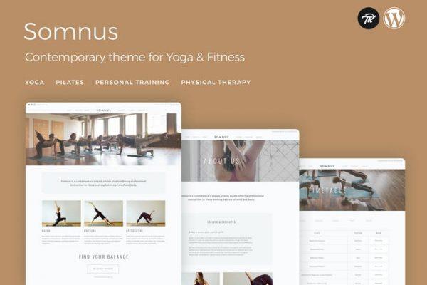 Somnus - Yoga & Fitness Studio WordPress Theme