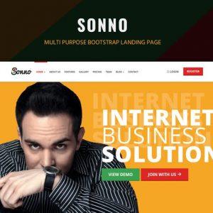 Sonno - Startup Marketing Landing Page WP Theme