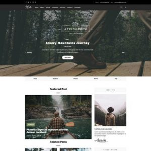 Springbook - Blog Travel Photography WP Theme