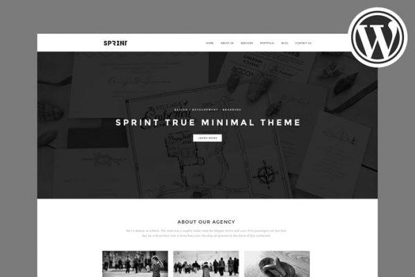 Sprint - Minimal WordPress Portfolio