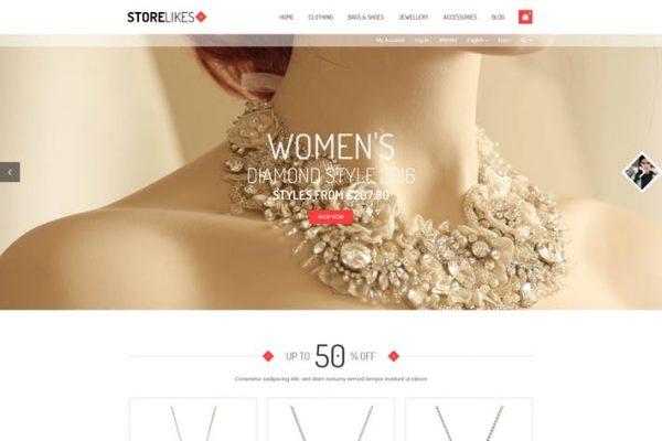 Storelikes - Fashion RTL Responsive WooCommerce Wo