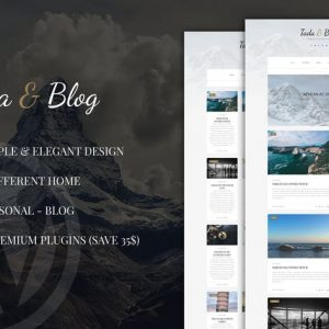 Tada & Blog - Personal Blog WordPress Template