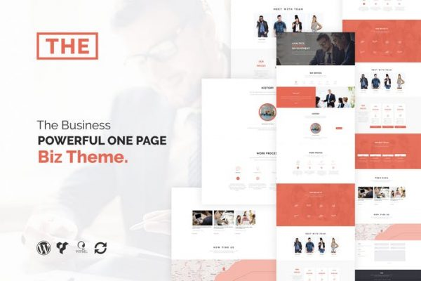 The Business - Powerful One Page Biz WP Theme