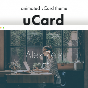 ucard animated vcard wordpress theme