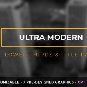 Ultra Modern Titles & Lower Thirds | MOGRT for Premiere Pro