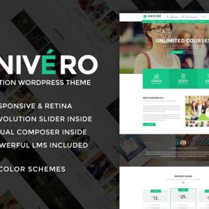 Univero - Education LMS & Courses WordPress Theme