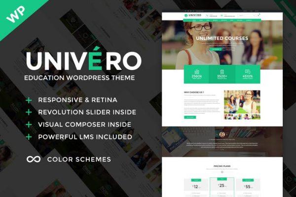 Univero - Education LMS & Courses WordPress Theme