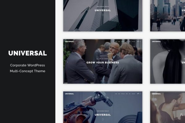Universal - Corporate WordPress Multi-Concept Them