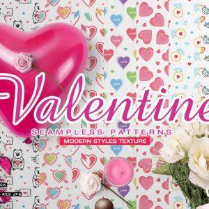 Valentine Seamless Patterns