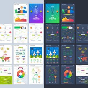Vector illustrations of modern infographics. Big s