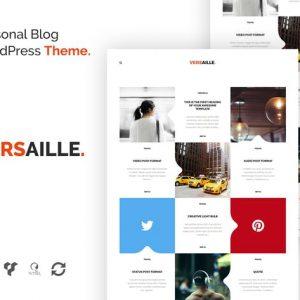 versaille personal blog wordpress theme
