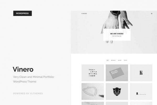 Vinero - Very Clean and Minimal Portfolio WP Theme