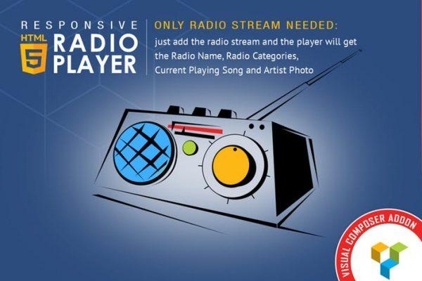Visual Composer Addon - HTML5 Radio Player