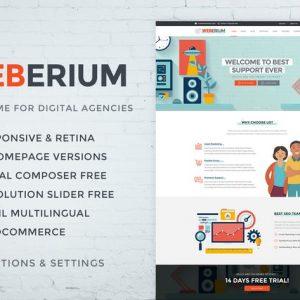 Weberium | Responsive WordPress Theme Tailored for