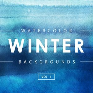 Winter Watercolor Backgrounds 1