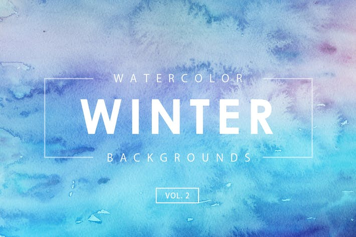 Winter Watercolor Backgrounds 2