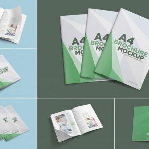6 A4 brochure mockup