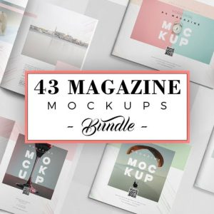 43 Magazine Mockups Bundle