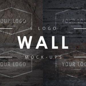 5 Wall Logo Mock-Up's