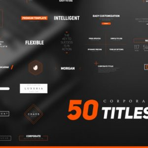 50 Stylish Corporate Titles Pack