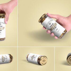 5 Olives Glass Jar Mockups