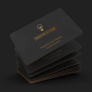 85x55 Black Business Card Mockups