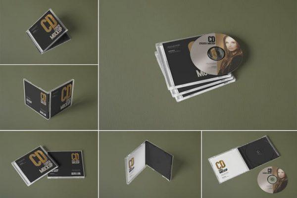 6 CD Cover Mockups