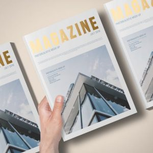 A4 Foil Stamping Magazine Mock-Up