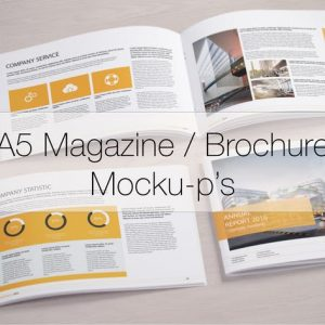 A5 Magazine / Brochure Mock-up's
