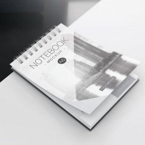 A6 Spiral Notebook Mockups