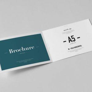 Bi-Fold A5 Horizontal Brochure Mock-up