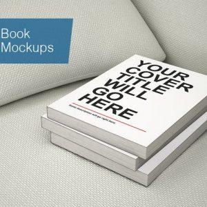 Book Mockup - 7 Poses