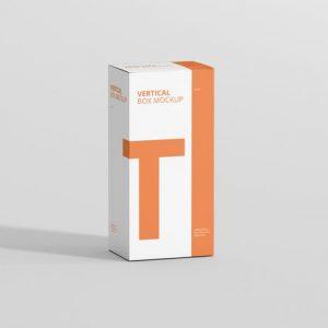 Box Mockup - Long Vertical Rectangle