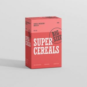 Cereals Box Mockup - Big Size