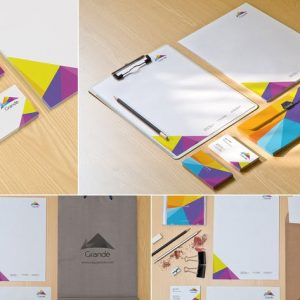 Corporate Stationery Mockups PSD
