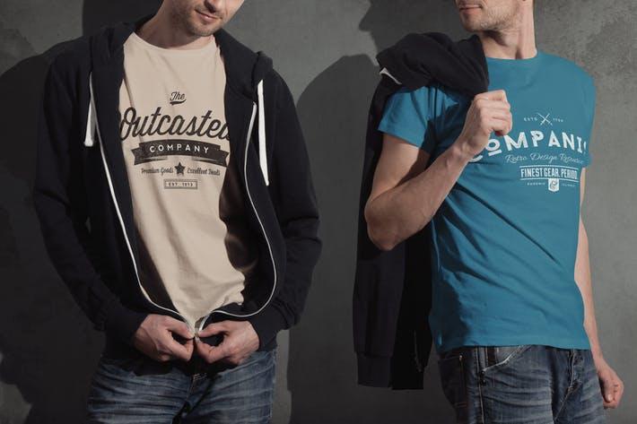Crew Neck T-shirt Mock-up Male Version