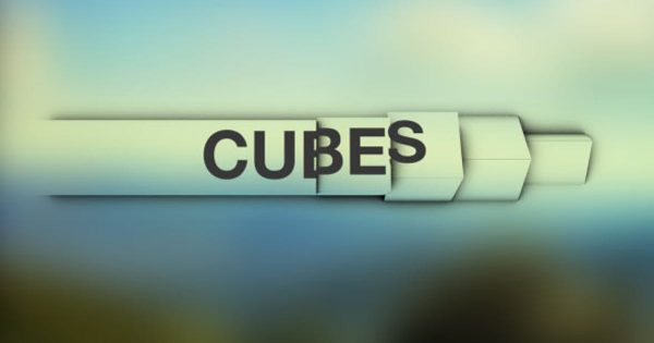 Cubes - Simple and Clean Lower Thirds