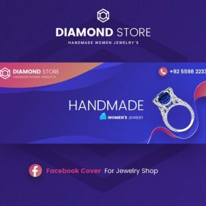 Diamond - Jewelry Facebook Cover Template