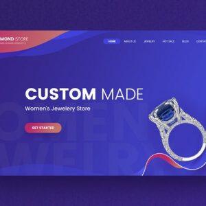 Diamond - Jewelry Hero Header Template