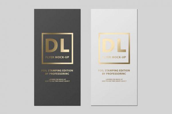 DL Flyer Mock-Up / Foil Stamping Edition