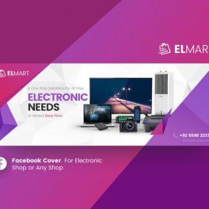 Elmart - Electronic Facebook Cover Template