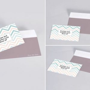 Envelope and Invitation Mock Up