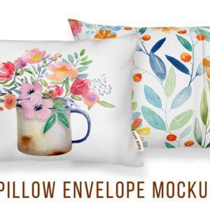 Envelope Cushion Mockup