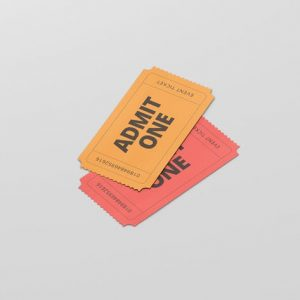 Event Ticket Mockup - Small Size
